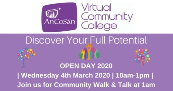 Open Day at An Cosán Virtual Community College
