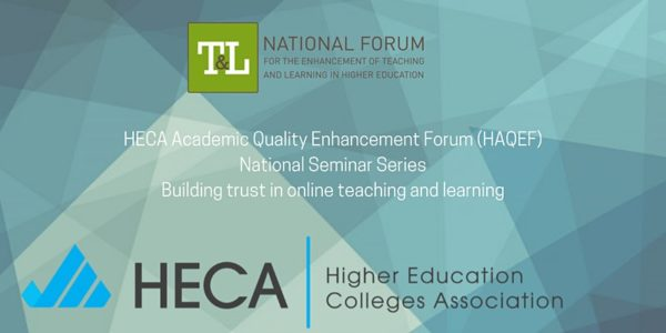 Seminar: Building Trust in Online Teaching and Learning